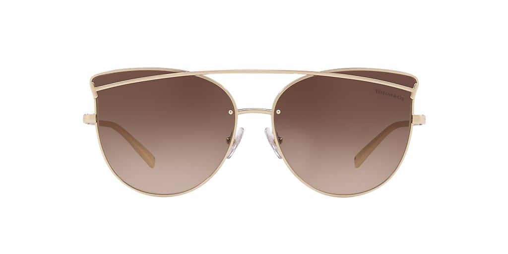 Gold TF3064 Tiffany T Smile Brown  61