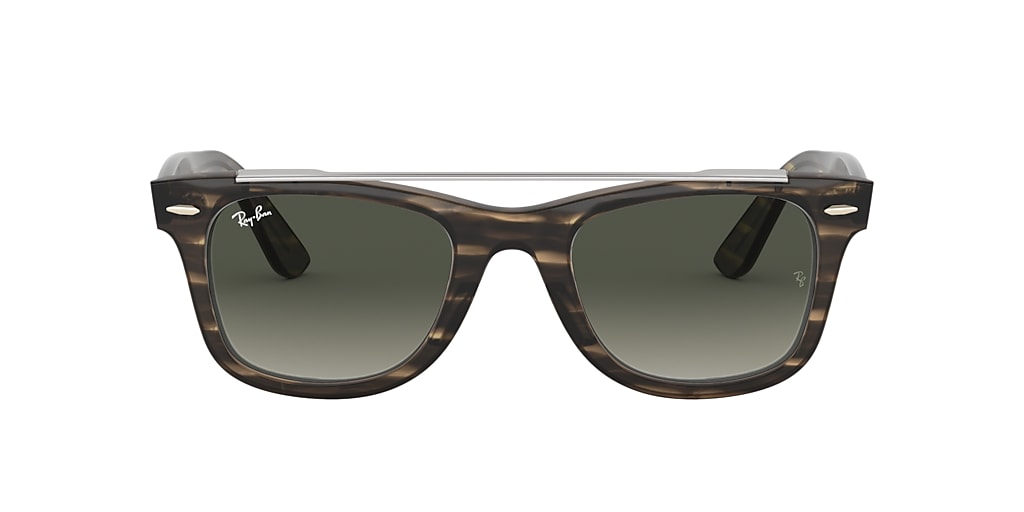 Brown RB4540 WAYFARER DOUBLE BRIDGE Grey Gradient  50