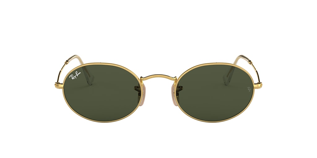 Gold RB3547 OVAL Green Classic G-15  51