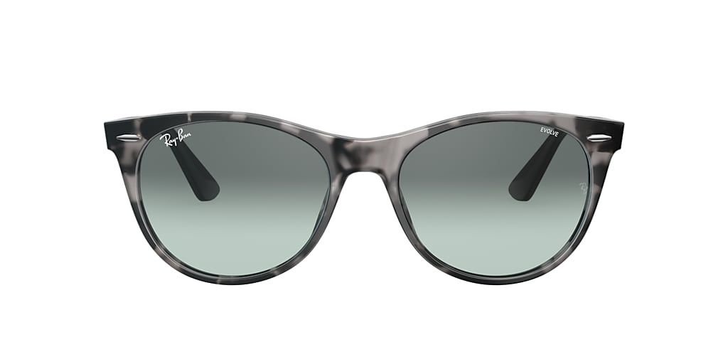 Tortoise RB2185 WAYFARER II WASHED EVOLVE Blue Gradient  55