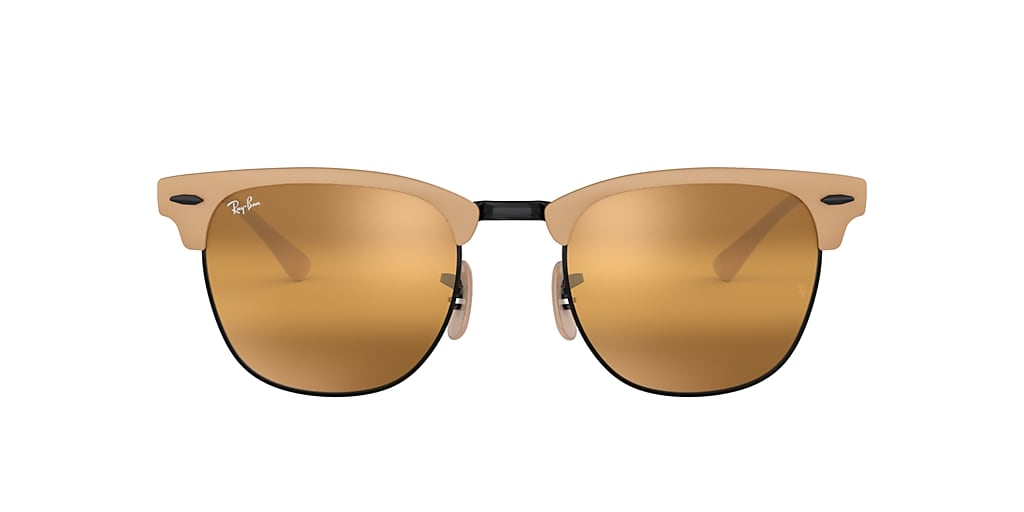 Light Brown RB3716 CLUBMASTER METAL Yellow  51