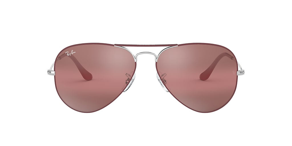 Bordeaux RB3025 AVIATOR MIRROR Violet  58
