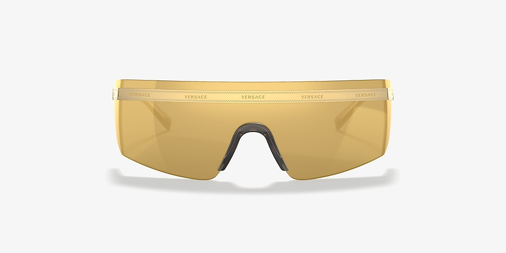 Versace VE2208 01 Gold & Gold Sunglasses | Sunglass Hut USA