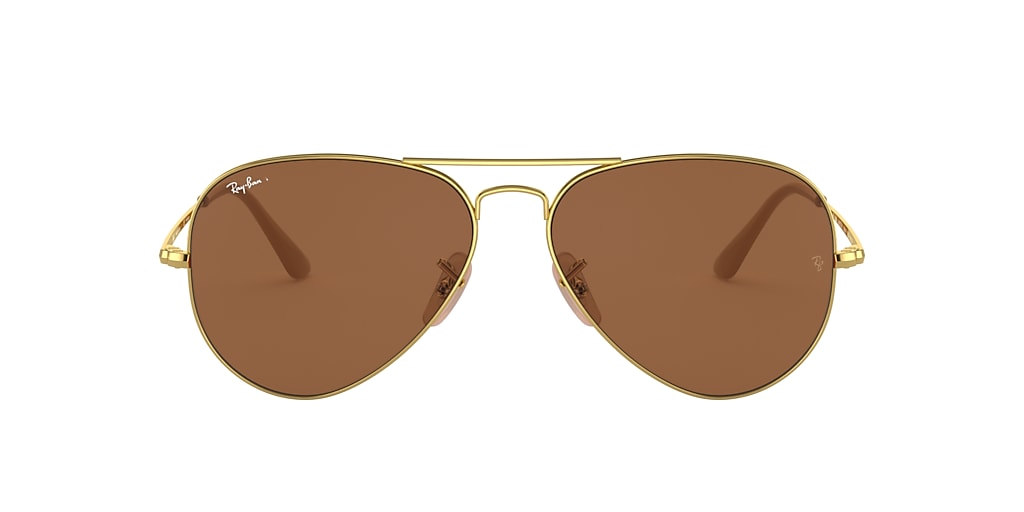 Gold RB3689 Polarized Brown Classic B-15  55