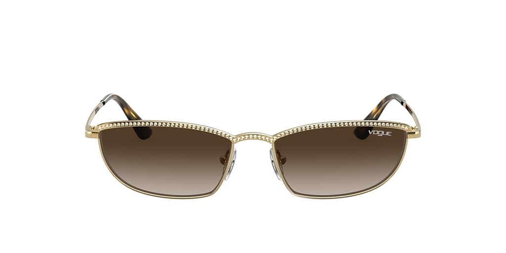 Gold VO4139SB Gigi Hadid x Vogue Eyewear Brown  54