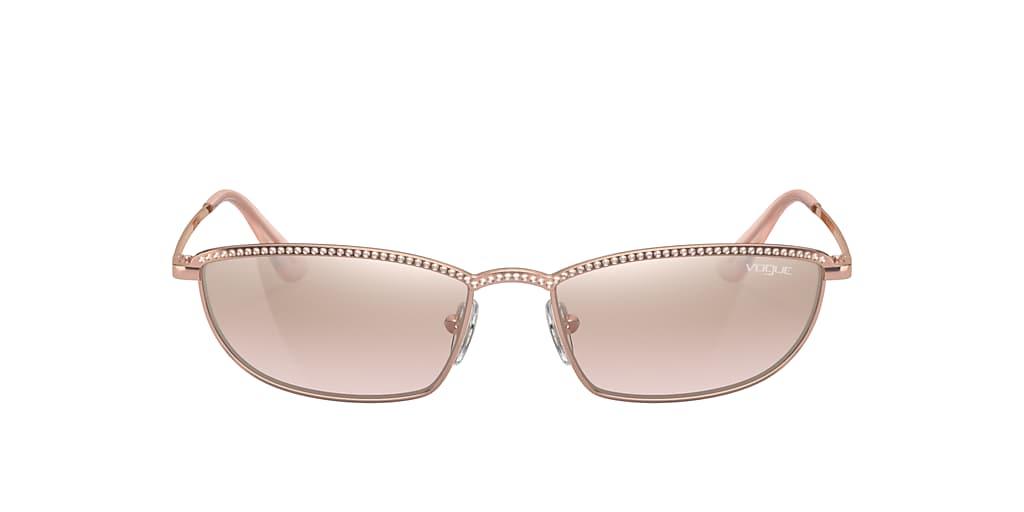 Pink VO4139SB Gigi Hadid x Vogue Eyewear Light Brown Mirror Silver Grad  54