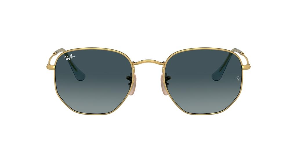 Gold RB3548N HEXAGONAL FLAT LENSES Blue  51