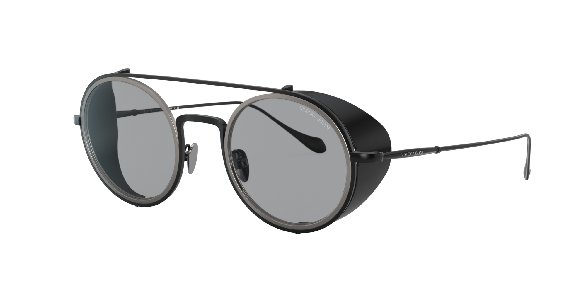 Giorgio Armani Man  AR6098 -  Frame color  Matte Black, Grey-Black Lens Sunglasses