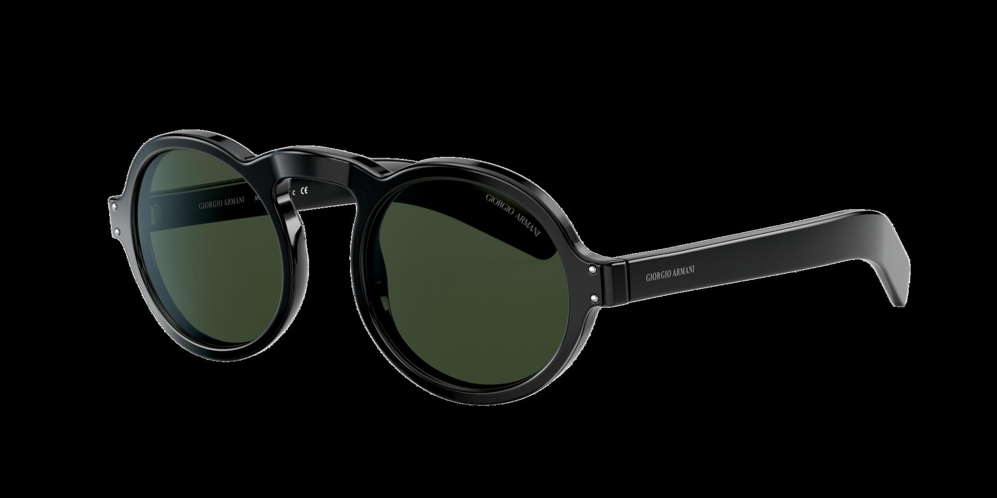 Giorgio Armani Man  AR 803M -  Frame color  Black, Lens color  Green