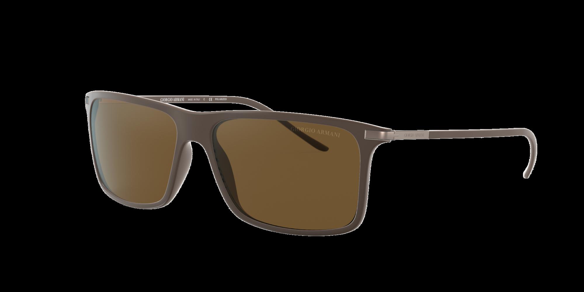 Giorgio Armani Man  AR8034 -  Frame color  Brown, Lens color  Brown, Size 57-14 145