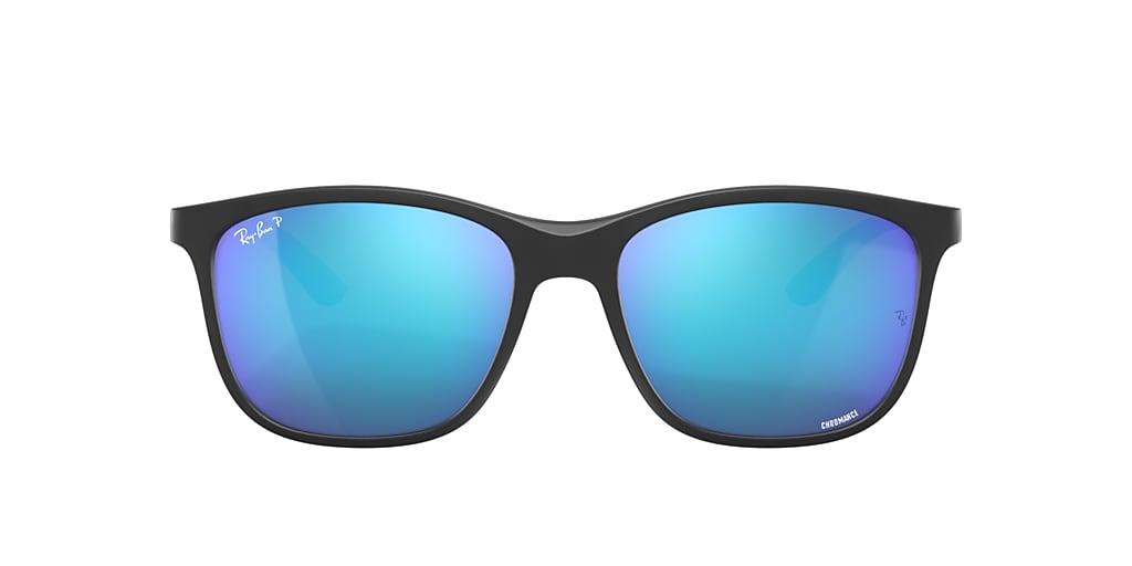 Black RB4330 CHROMANCE Blue Gradient  56