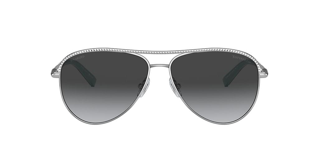 Silver TF3062 Tiffany Diamond Point Grey-Black