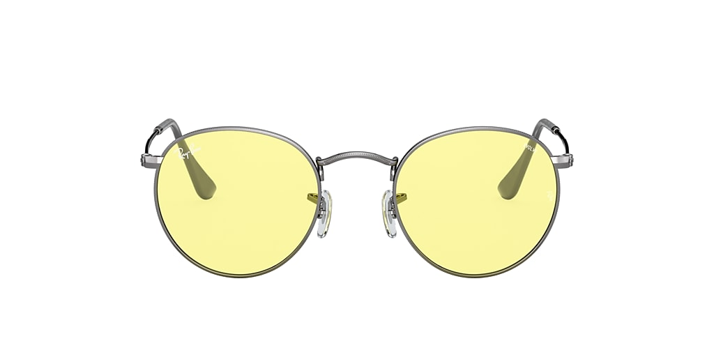 Gunmetal RB3447 ROUND SOLID EVOLVE Yellow/Light Red Photochromic Evolve  50