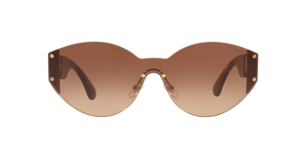Gold VE2224 Medusa Icon Havana Brown Gradient