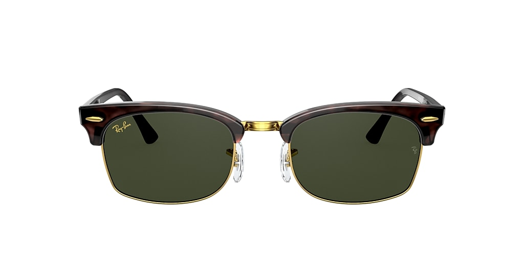Tortoise RB3916 CLUBMASTER SQUARE LEGEND GOLD Green  52