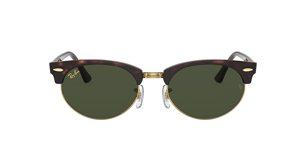 Tortoise RB3946 CLUBMASTER OVAL LEGEND GOLD Green  52