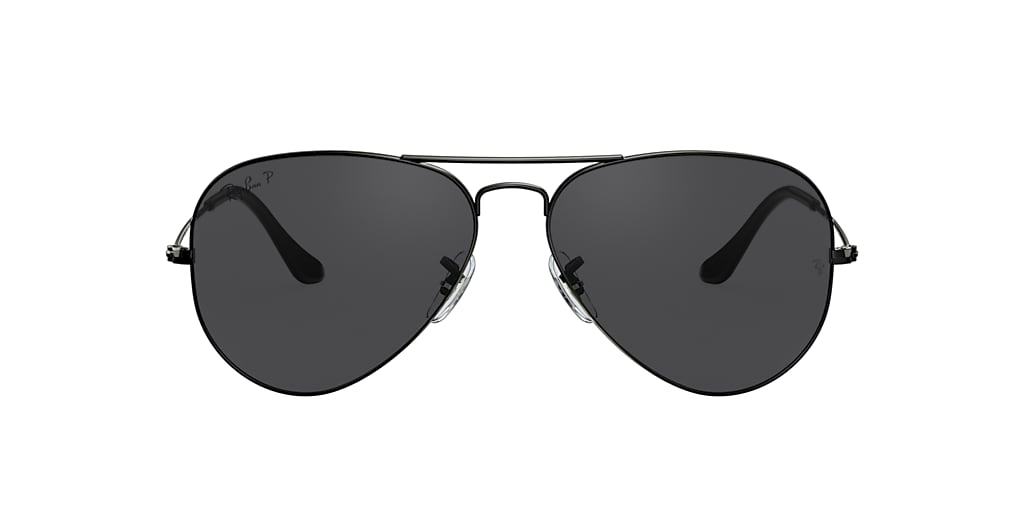 Black RB3025 AVIATOR LARGE METAL Black