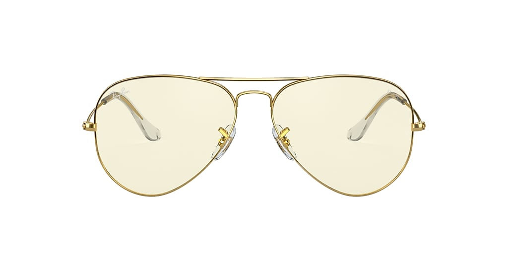 Gold RB3025 AVIATOR CLEAR EVOLVE Clear Photochromic Grey  58