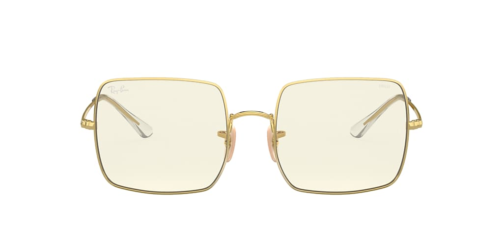 Gold RB1971 Square Clear Evolve Clear Photochromic Grey  54