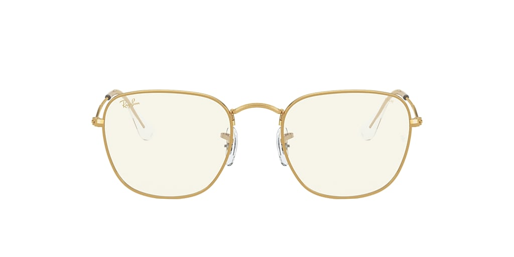 Gold RB3857 Frank Clear Evolve with Blue-Light filter Clear Grey with Blue-Light Filter  51