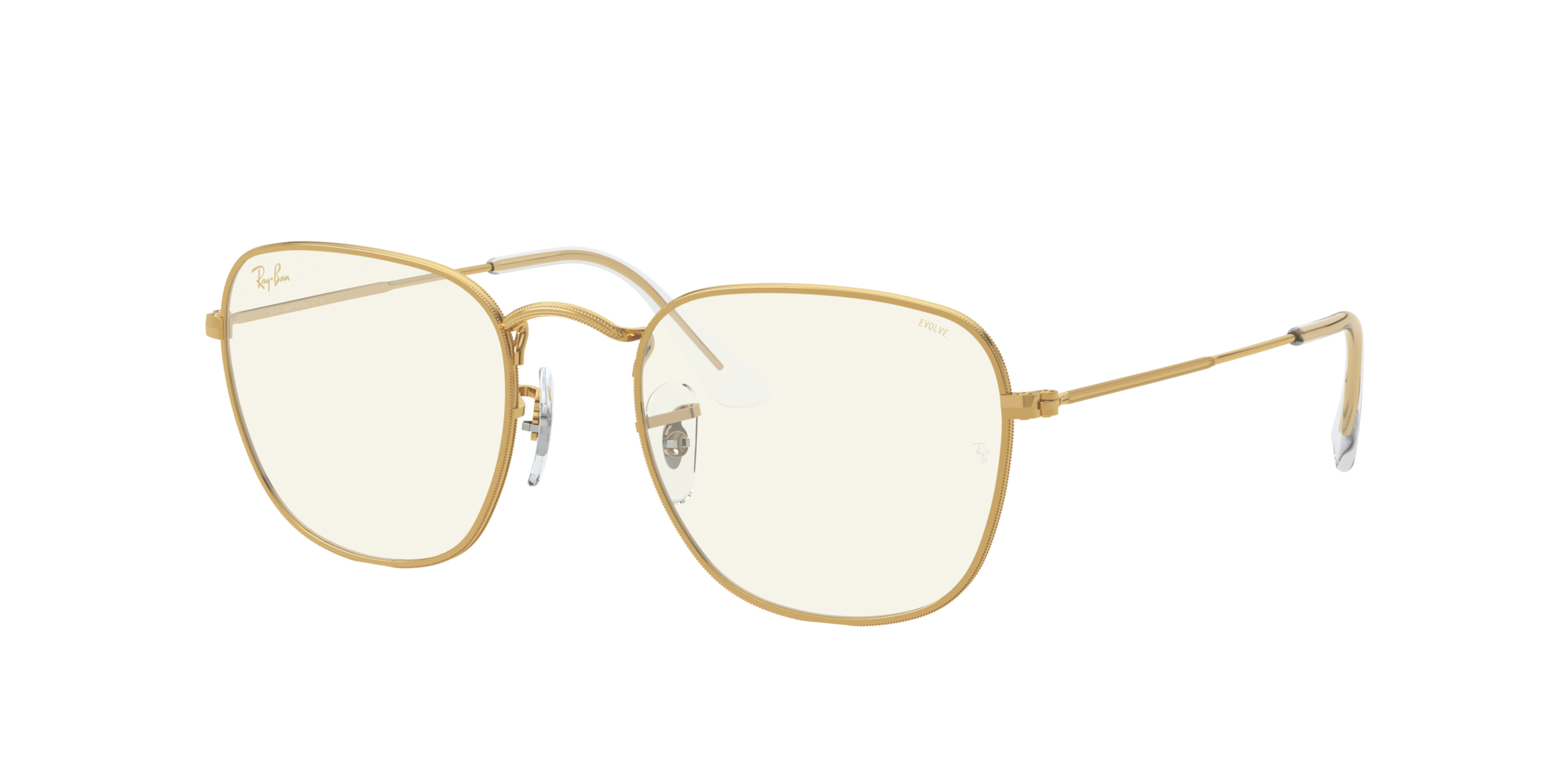 Ray Ban RAY BAN UNISEX  RB3857 FRANK CLEAR EVOLVE WITH BLUE