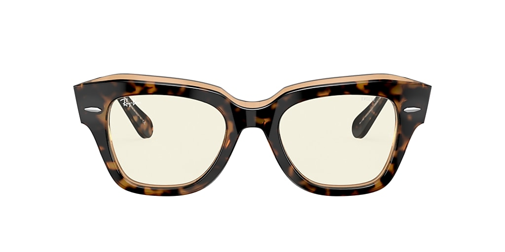 Tortoise RB2186 STATE STREET BLUE-LIGHT FILTER Clear Photochromic Grey with Blue-Light Filter  49