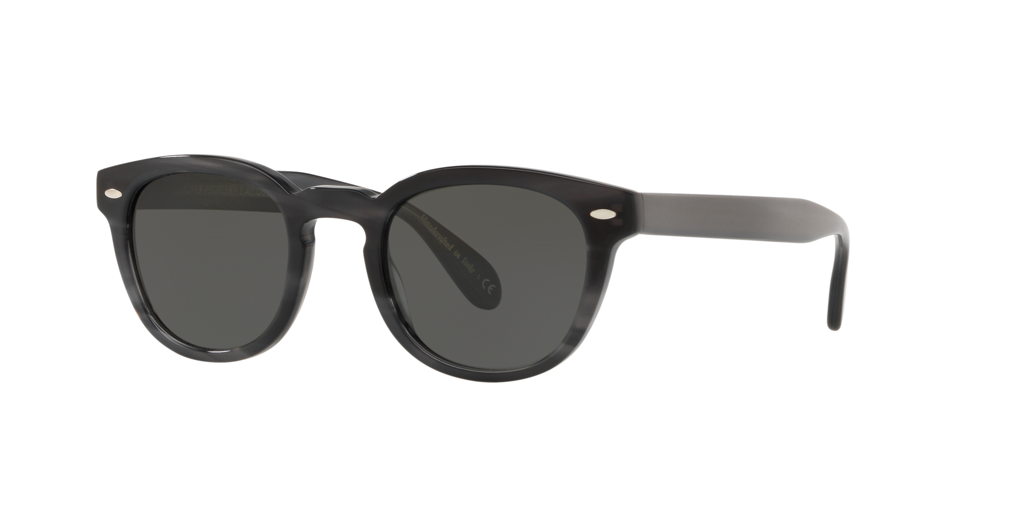 Oliver Peoples OV5036S Sheldrake Sun Tortoise Frame Sunglasses with Grey-Black Lenses