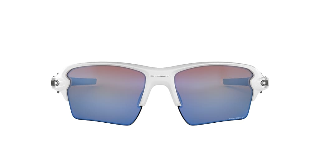 White OO9188 Flak® 2.0 XL Prizm Deep Water Polarized  59