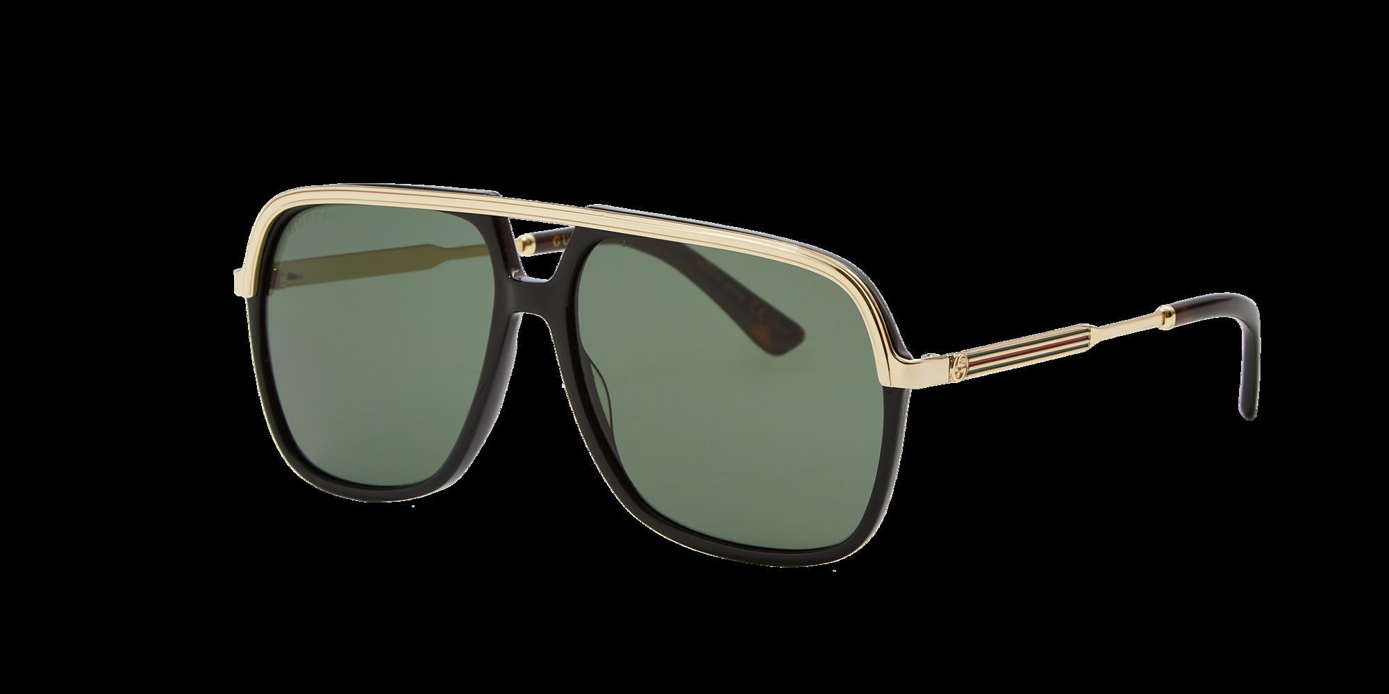 Gucci Unisex  GG0200S -  Frame color  Black, Lens color  Green, Size 57-14 145