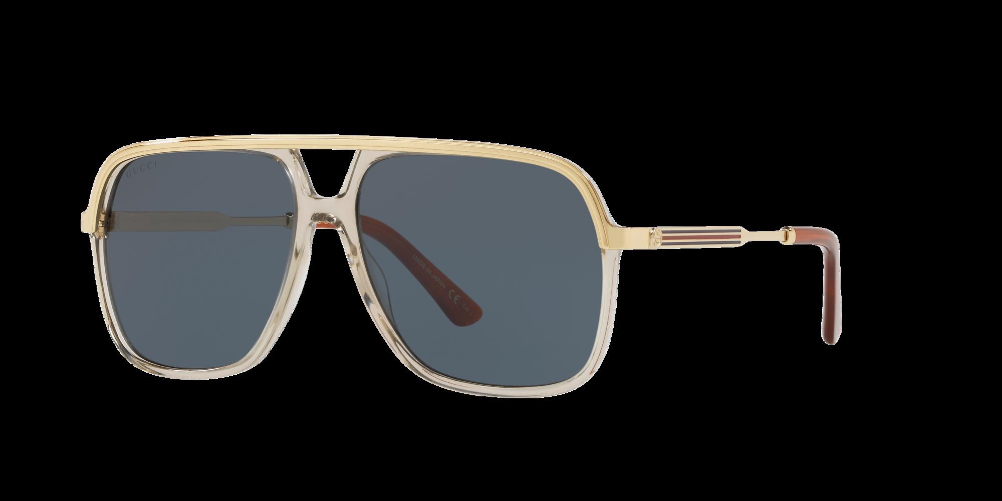 Gucci Unisex  GG0200S -  Frame color  Brown, Lens color  Blue, Size 57-14 145
